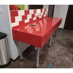 Сантехнические столешницы в общественный туалет в Казани